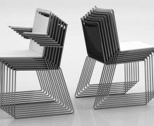 Viasit Klikit stoel mobiel stapelbaar
