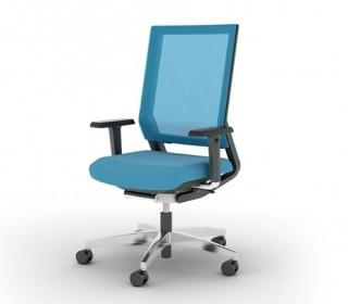Viasit Impulse Netweave bureaustoel met armsteun